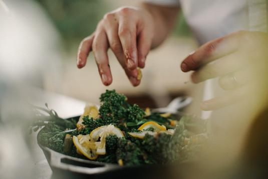 Würzen Salat
