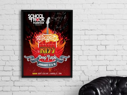 Rock on Fire Poster