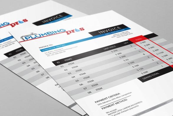 PlumbingPros Invoice Template