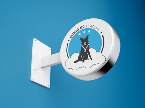 Cloud K9 Academy Sign