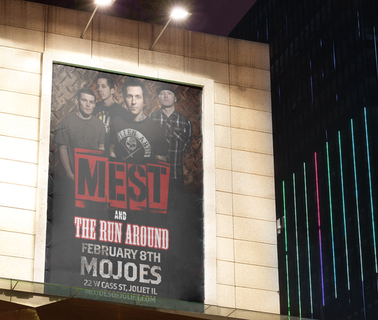 Mojoes Show Poster with Mest