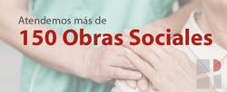 Atendemos más de 150 obras sociales