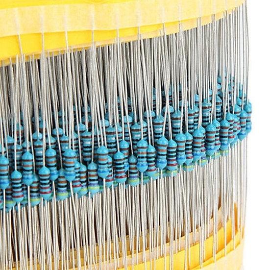 Kit de 300 resistencias metálicas (30 valores) 1/4W 1% de precisión