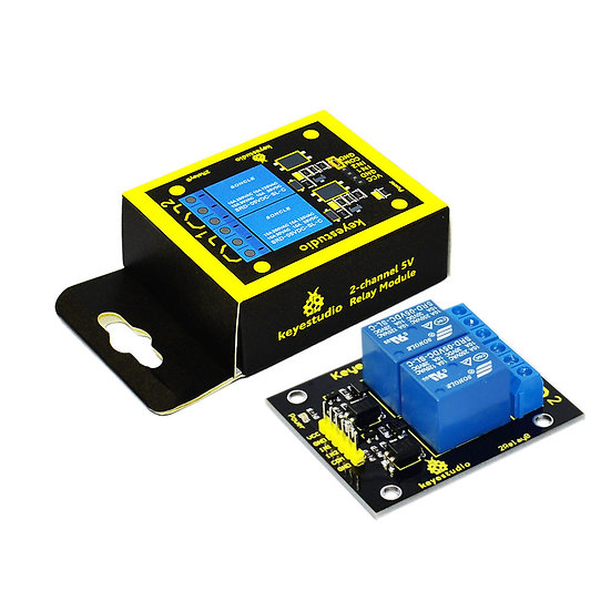 Módulo Relevo dual 5V para Arduino, marca Keyestudio