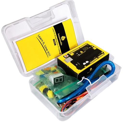 Kit Tablero de circuitos con placa UNO R3 para Arduino, marca Keyestudio