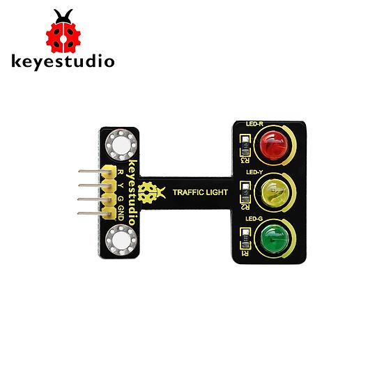 Módulo semáforo negro y amigable con el medio ambiente para Arduino, marca Keyes
