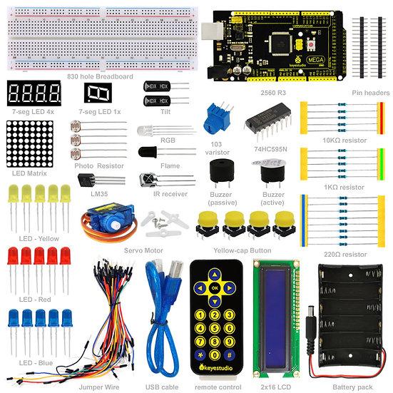 Kit de iniciación básico con placa MEGA2560 R3 para Arduino, marca Keyest