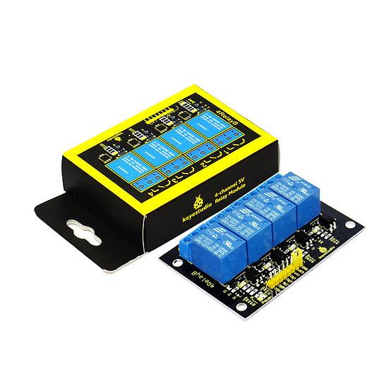 Módulo Relevo de 4 canales, 5V para Arduino, marca Keyestudio