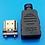Thumbnail: HDMI macho con carcasa de plástico placa de oro 19Pin enchufe, conectores soldad