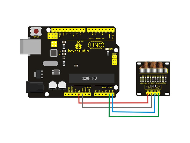Módulo panel LCD OLED de 0.96 pulgadas con zócalo para Arduino, marca Keyestudio