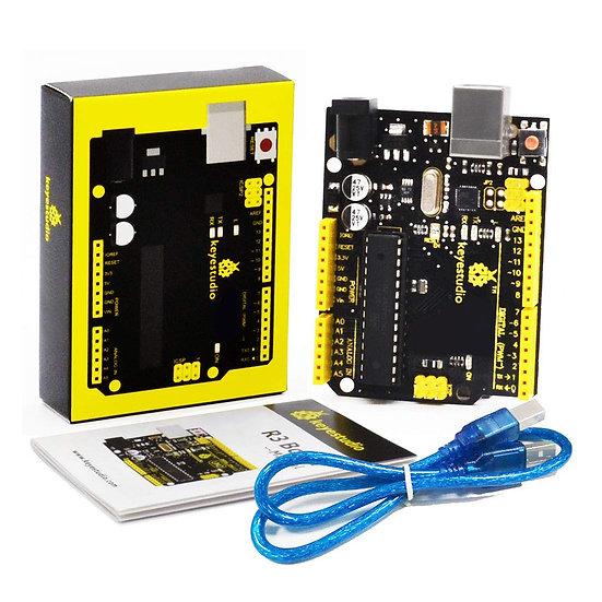 Placa base UNO R3 compatible con Arduino, marca Keyestudio
