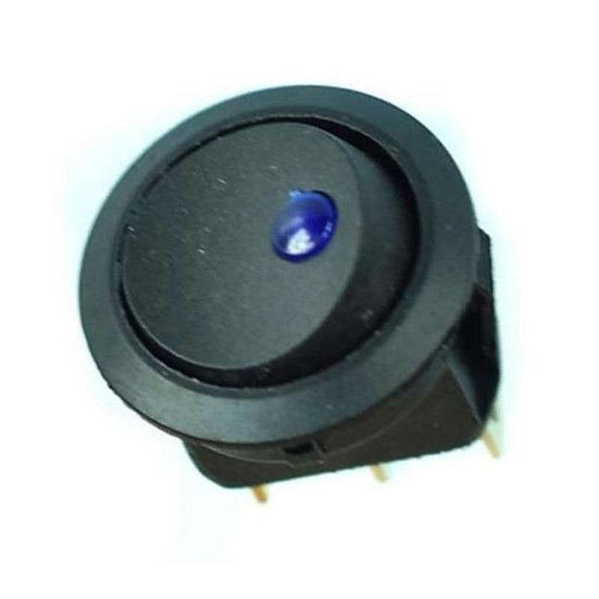 Interruptor redondo con luz piloto azul para empotrar 2 posiciones