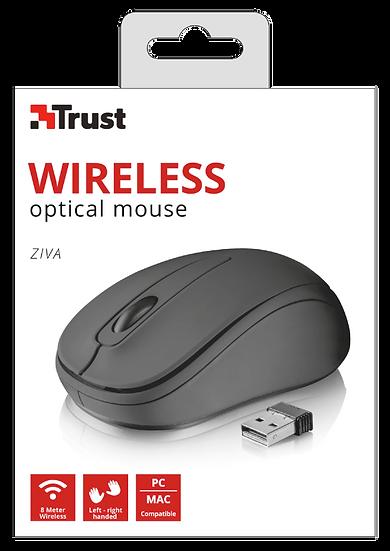 Mouse Inalambrico Usb Trust Ziva Compact Negro