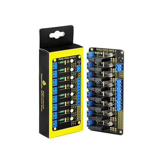 Módulo relevo de estado sólido, 8 canales para Arduino, marca Keyestudio