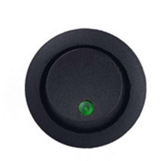 Interruptor redondo con luz piloto verde para empotrar 2 posiciones