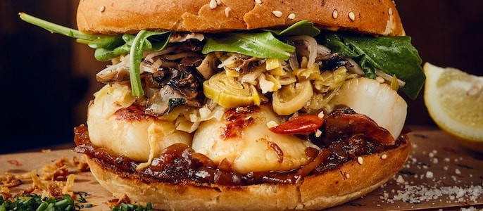 burger saisonnier le saint jack pere et fish