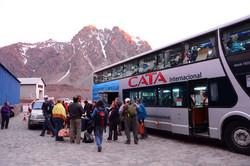 Arriving at Portillo Hotel, Chile