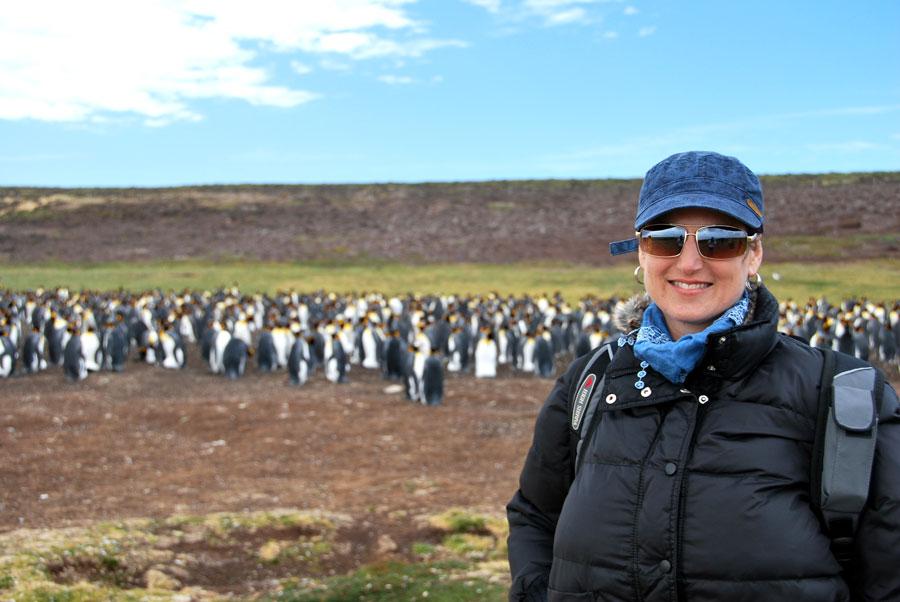 Monika King Penguins Falkland Island