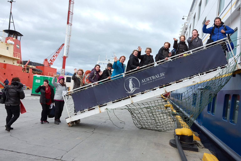 Boarding the Stella Australis