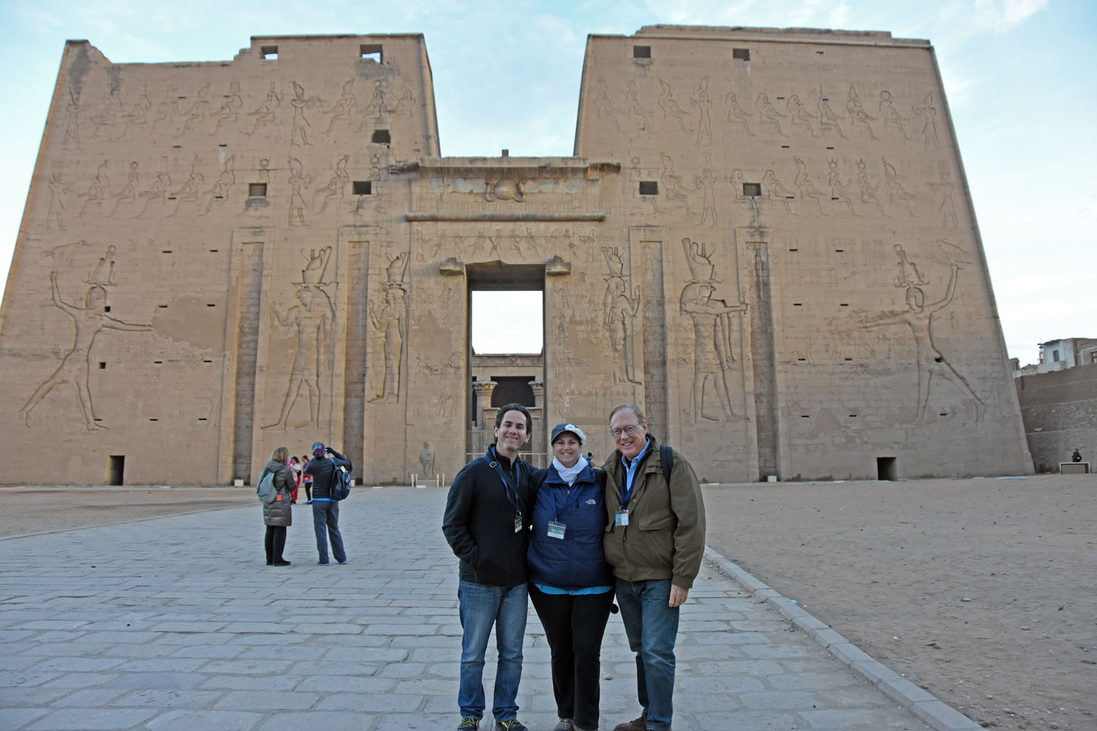 Elan, Monika, Lee at Edfu Temple
