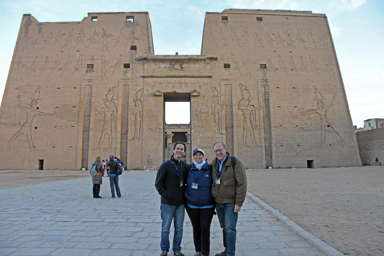 Elan, Monika, Lee at Edfu Temple