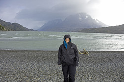 Monika Muranyi at Grey Glacier