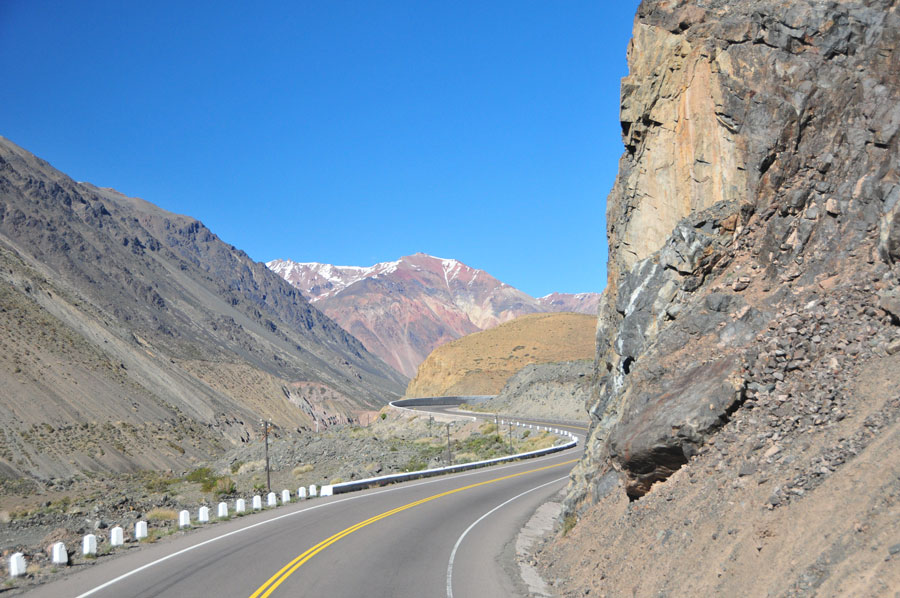 Crossing the Andes, from Argentina t