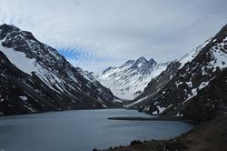 The lake at Hotel Portillo, Chile
