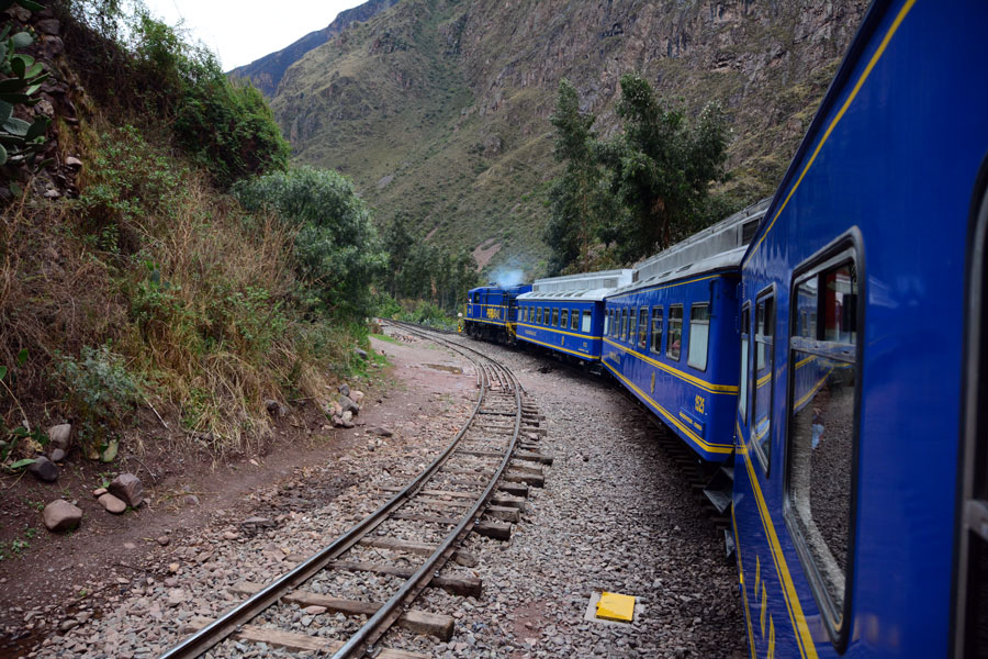 Train heading for Aguas Calientes