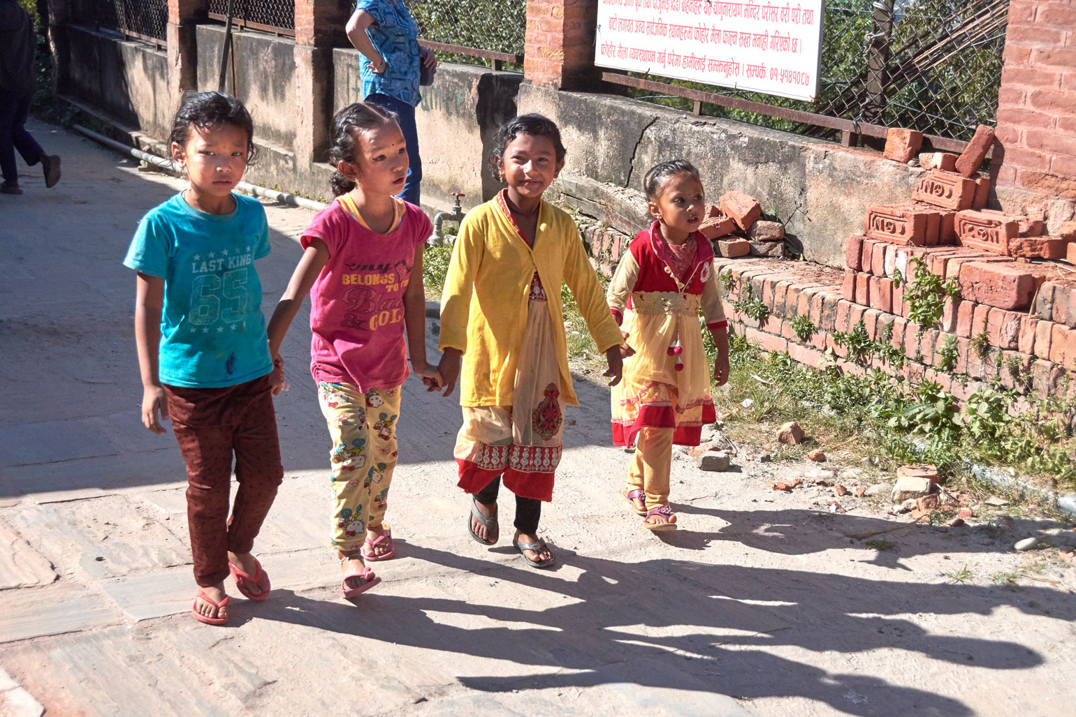 Nepalese girls at Changu Narayan
