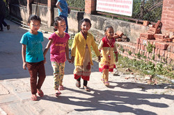 Nepalese girls at Changu Narayan