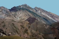 Hiking back from Mt Aconcagua