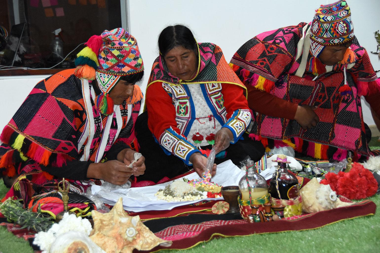 Pachamama offering ceremony