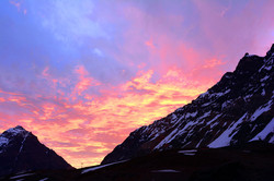 Sunset from Portillo Hotel, Chile