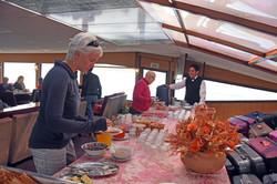 Breakfast on Lake Titicaca