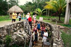 Visiting a cenote