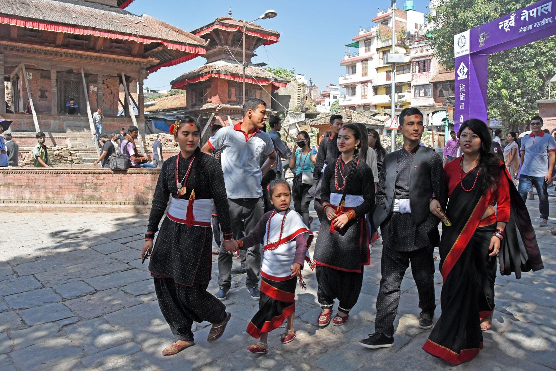 Tihar celebrations in Kathmandu
