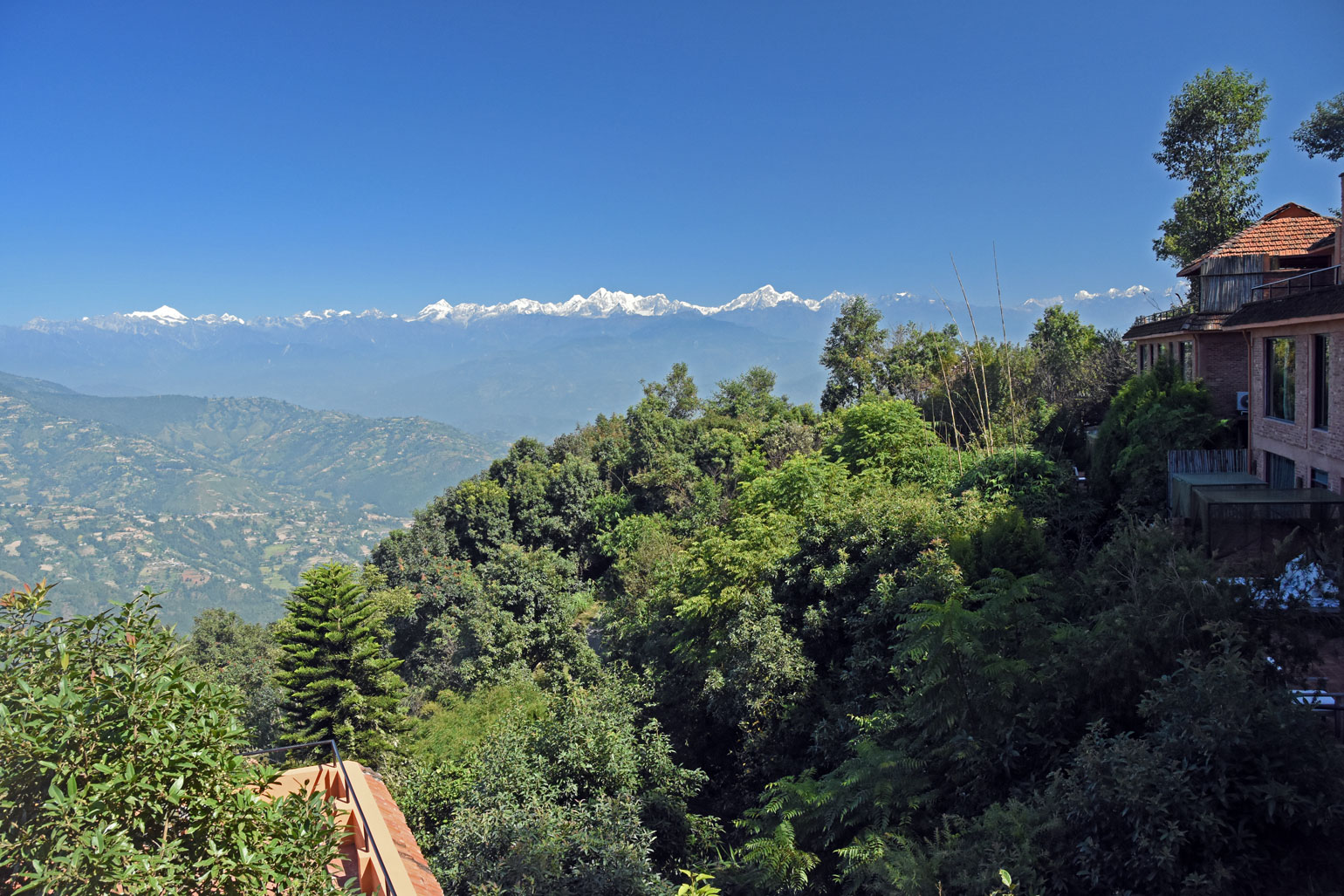 View from Dwarikas Resort Dhulikhel