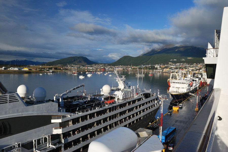 Port at Ushuaia, Argentina