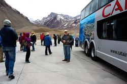 Arriving at Mt Aconcagua