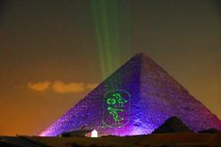 Pyramid light show