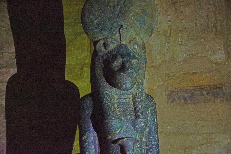 Sekhment inside Karnak Temple