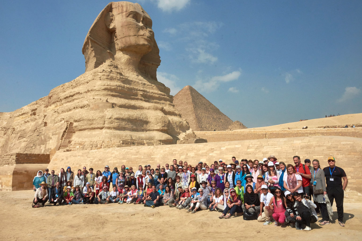 Kryon Egypt Group at the Sphinx