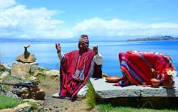 Shamanic ceremony Island of the Sun