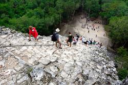 View from pyramid at Coba