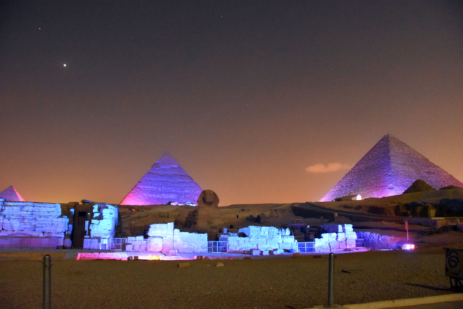 Pyramid light show