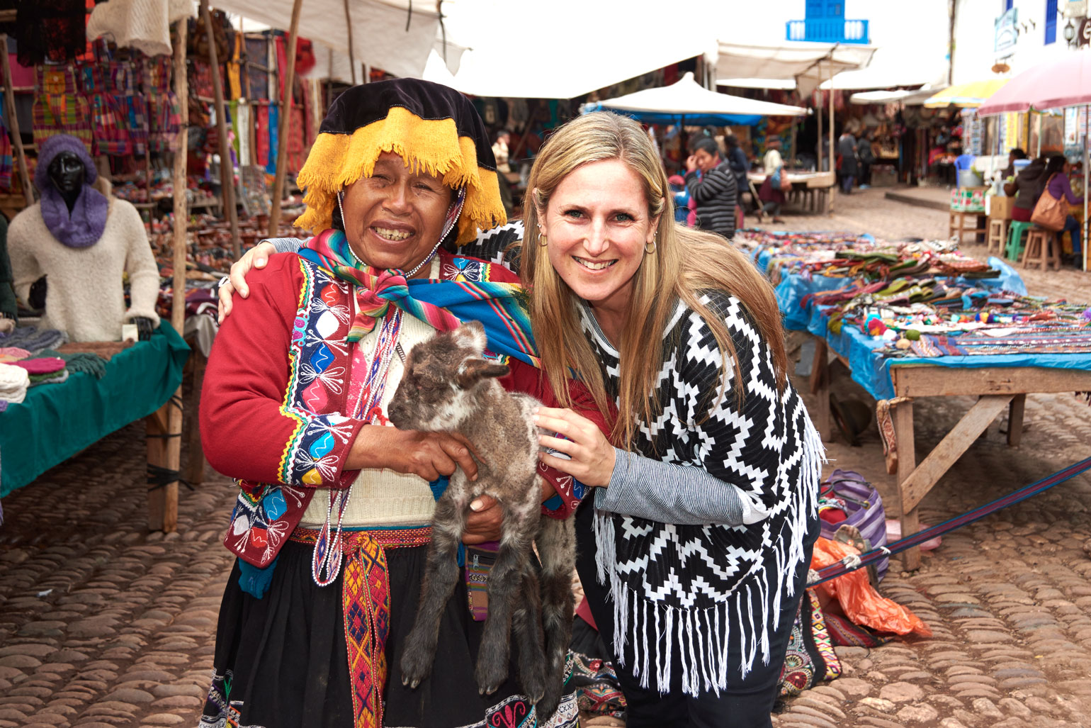 Monika Muranyi at Pisac Market