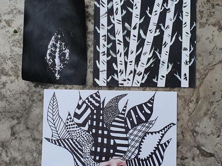 יצירות בשחור לבן