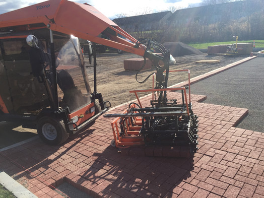 Machine Installion of Unit Pavers