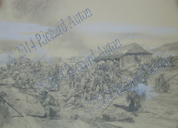 A1 print the defence of Rorke's Drift
